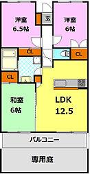 栃木県小山市宮本町3丁目の賃貸マンションの間取り