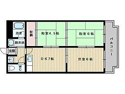 三番町マンション[2階]の間取り