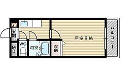 新大阪アネックス土井マンションA棟[6階]の間取り