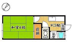 日伸コーポA棟[2階]の間取り