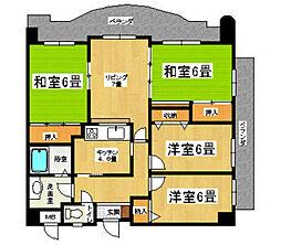 タフィマンション[405号室]の間取り
