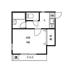 千葉県浦安市猫実5丁目の賃貸アパートの間取り