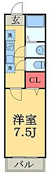 JR総武線 津田沼駅 徒歩14分の賃貸アパート 1階1Kの間取り