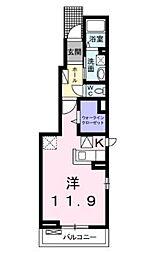 神奈川県厚木市下依知1丁目の賃貸アパートの間取り