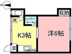 ハウスメイト[202号室]の間取り