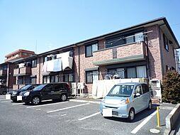 茨城県つくば市梅園2丁目の賃貸アパートの外観