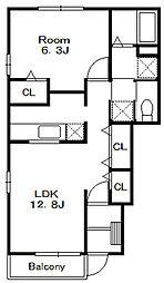 アメニティーC[1階]の間取り
