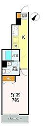 JR総武本線 稲毛駅 徒歩6分の賃貸アパート 1階1Kの間取り