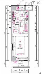 ARTECASA Alivie TOKYO EAST 5階1Kの間取り