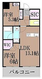 東京都港区港南5丁目の賃貸マンションの間取り