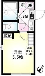 ナチュール湘南台[2階]の間取り