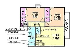 桃乃里[2階]の間取り