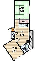 大阪府大阪市城東区今福南1丁目の賃貸マンションの間取り