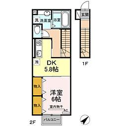Cozy-court[2階]の間取り