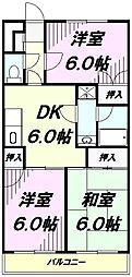 埼玉県入間市大字下藤沢の賃貸マンションの間取り