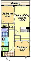 リヤンドファミーユ[2階]の間取り