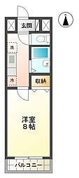 スィルヴィーブル248[1階]の間取り