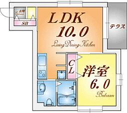 須磨寿[1階]の間取り