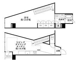 河田町コンフォガーデン4号棟[7階]の間取り