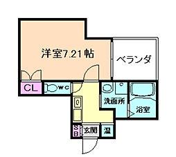 ディー・シモンズ梅田[2階]の間取り