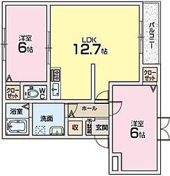 ブランメゾンN[2階]の間取り