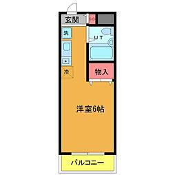 レジダンスアポロン[3階]の間取り