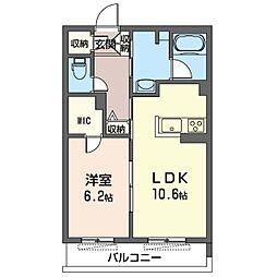 仮)川崎区塩浜2丁目シャーメゾン 3階1LDKの間取り