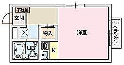 ベガ田口[2階]の間取り