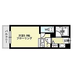 福岡県福岡市中央区地行4丁目の賃貸マンションの間取り