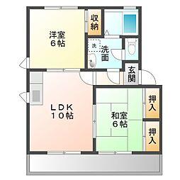 愛知県豊橋市大村町字山所の賃貸アパートの間取り