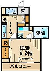 (仮)D-room府中町1丁目 2階1Kの間取り