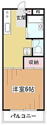 東京都東村山市栄町1の賃貸マンションの間取り