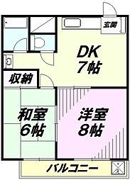 オスカーマンション[2階]の間取り