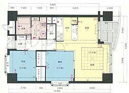 サンシティ博多FLEX21[6階]の間取り