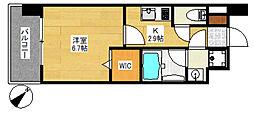 エンクレスト博多LIBERTY[7階]の間取り