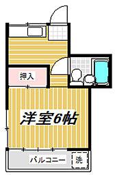 第五宮下荘[201号室]の間取り