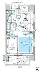 ディームス渋谷本町 12階1SLDKの間取り