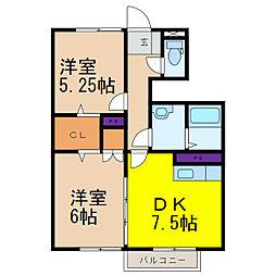 NフラットF棟[1階]の間取り