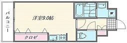 アイセレブ箱崎浪漫邸[205号室]の間取り