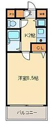 ライオンズマンションプラザ箱崎[705号室]の間取り