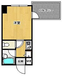 ダイナコート平尾山荘通り[7階]の間取り