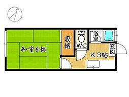 日伸コーポB棟[2階]の間取り