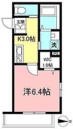 東京メトロ東西線 早稲田駅 徒歩7分の賃貸マンション 3階1Kの間取り