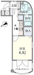 東京都練馬区北町1丁目の賃貸マンションの間取り