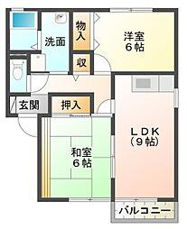 愛知県豊田市若林西町後口の賃貸アパートの間取り
