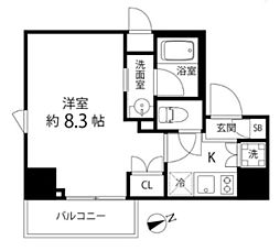DeLCCS TOKYO BAY デルックス東京ベイ 2階1Kの間取り