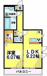 SYハイア 3階1LDKの間取り