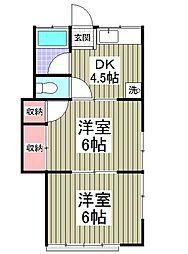 サニーホーム丸屋[2階]の間取り
