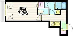 Grace Maison f 4階1Kの間取り