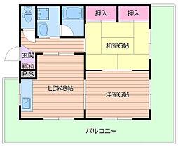 マンション和気/[5階]の間取り